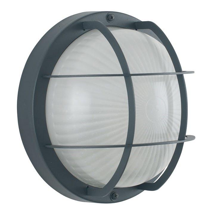 Outdoor Bulk Head Wall Light; Grey