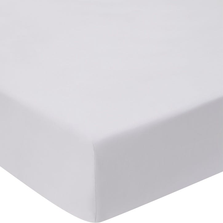 1200TC Fitted Sheet, Super King, Silver