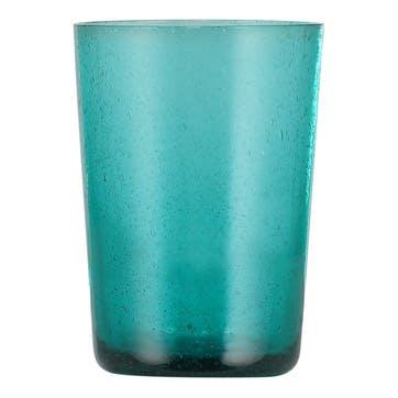 Tumblers, Set of 6, 340ml, Petrol Blue