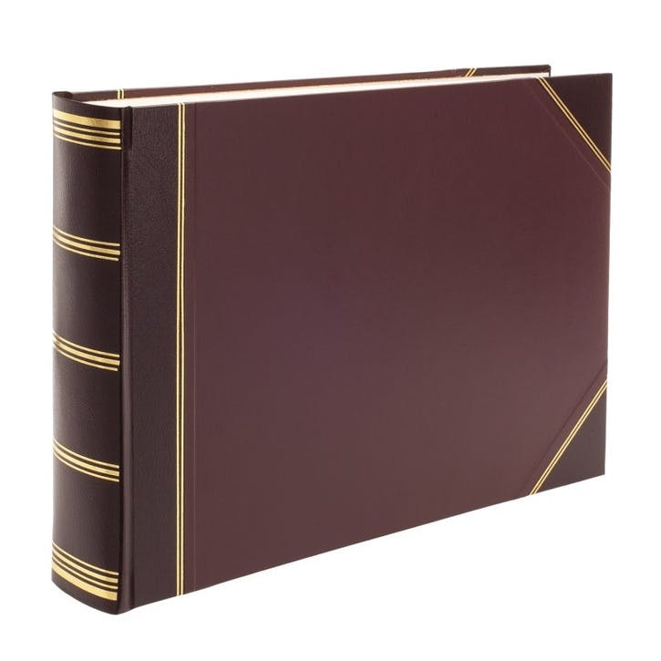 Standard Landscape Card Photo Album, Burgundy