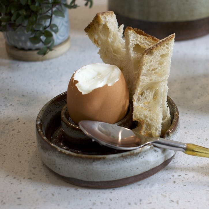 Stoneware Egg Dish