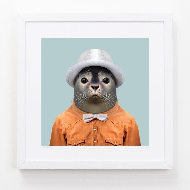 Zoo Portrait Print Harbor Seal, 33cm x 33cm