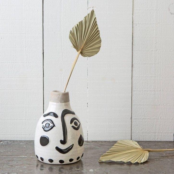 Face-Print Vase