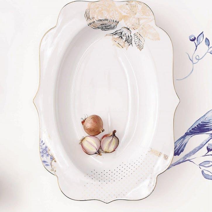 PiP Royal White Oval Platter