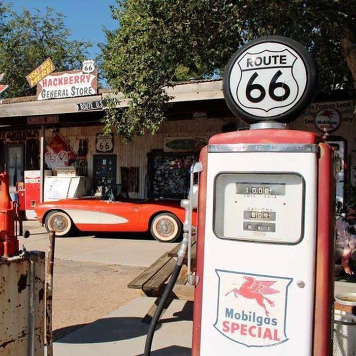 Honeymoon on Route 66 Tank of Fuel
