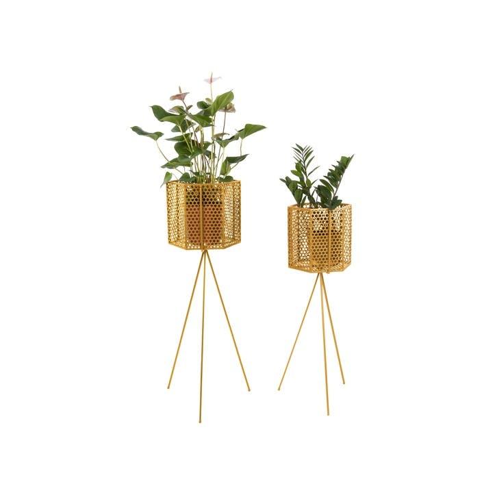 Mesh Standing Planter, Set of 2