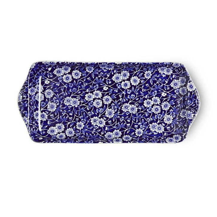 Calico Sandwich Tray, 25cm, Blue