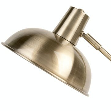 Hood Table Lamp, Brushed Gold