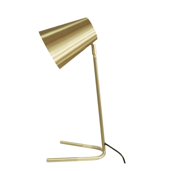 Noble Table Lamp, Brushed Gold