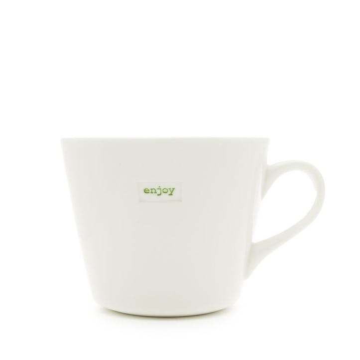 'Enjoy' Bucket Mug, 350ml