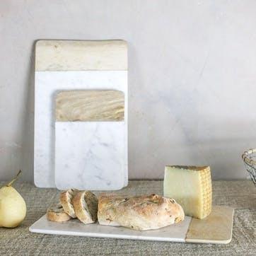 Bwari Long Marble Board - Small; White
