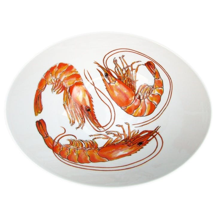 Shrimp Oval Bowl - 27cm