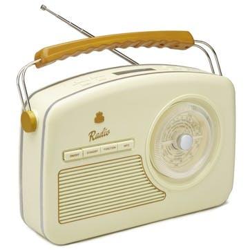 Rydell DAB Radio; Brown & Cream