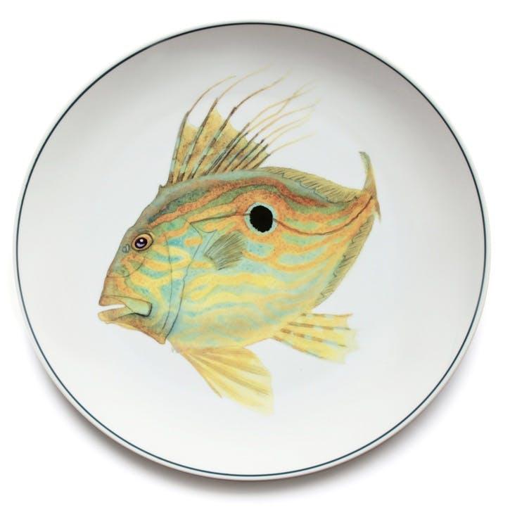 Seaflower John Dory Charger Platter, 32cm, Yellow
