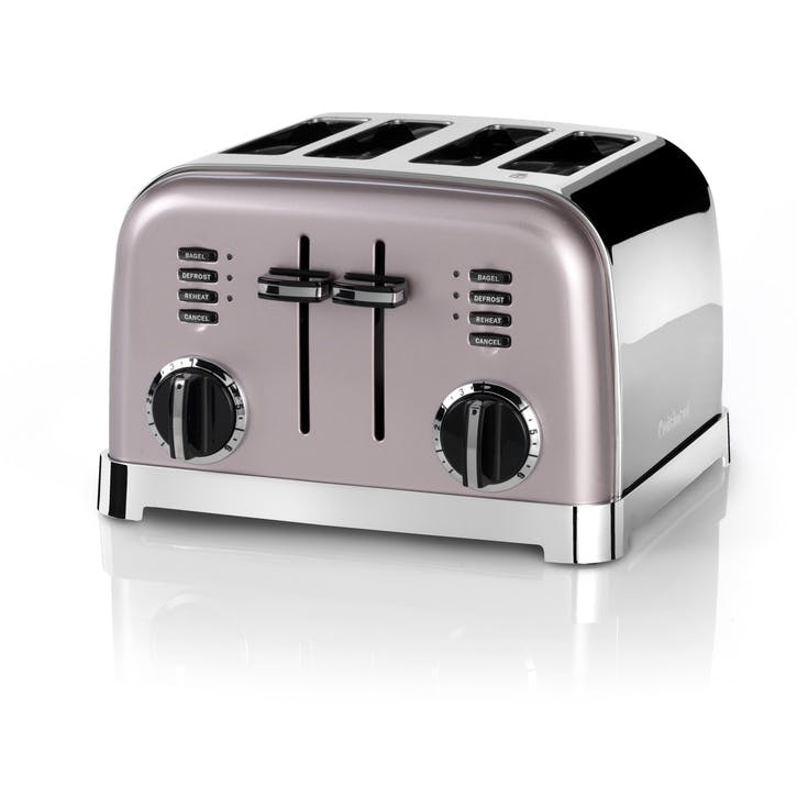4 Slice Toaster, Vintage Rose