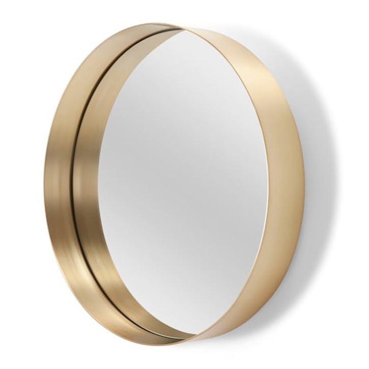 Alana Round Mirror; 50cm - Brushed Brass