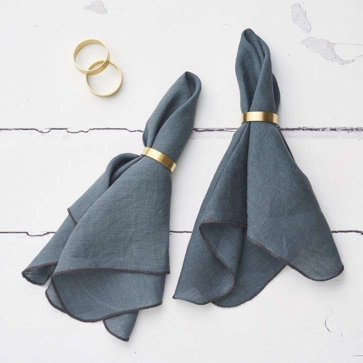 Jewel Linen Napkin, Petrol Blue