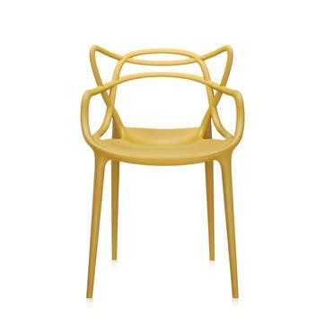 Masters, Pair of Dining Chairs, Mustard