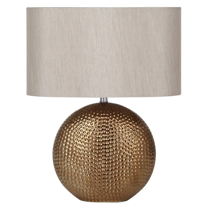 Mabel Ceramic Table Lamp; Bronze