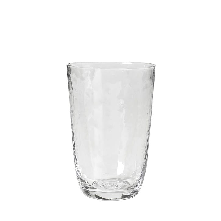 Hammered Tumbler, Tall, Clear