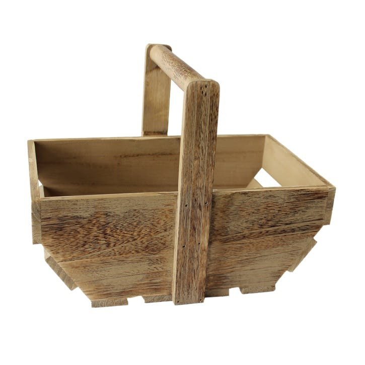 Medium Oak Effect Wooden Trug