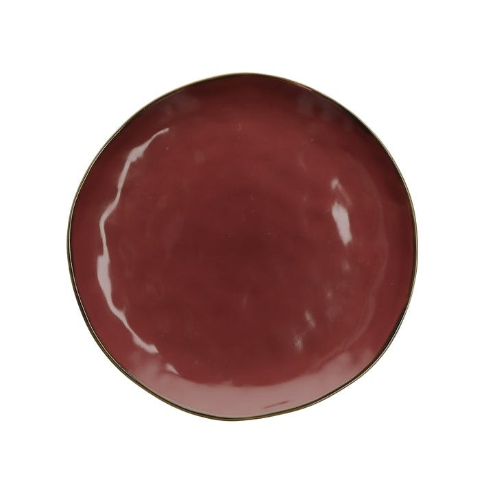 Concerto Dinner Plate, Fire Red