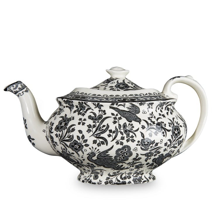 Black Regal Peacock Teapot, 5 Cup
