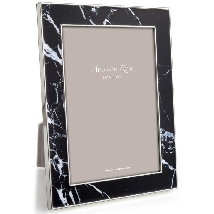 "Marble Photo Frame - 8"" x 10""; Black"