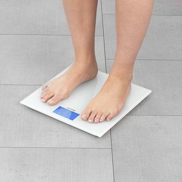 Digital Bathroom Scales, White