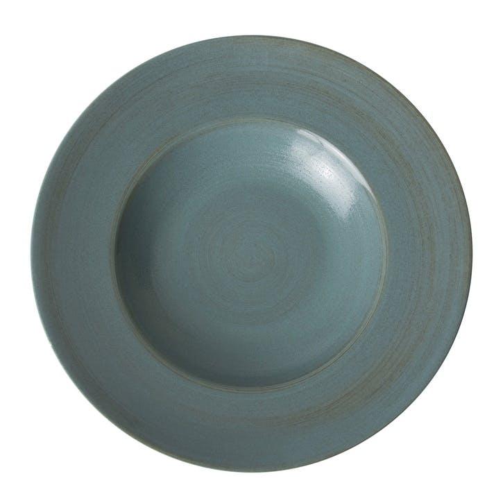Studio Glaze Rimmed Pasta Bowl - 27cm; Ocean Whisper