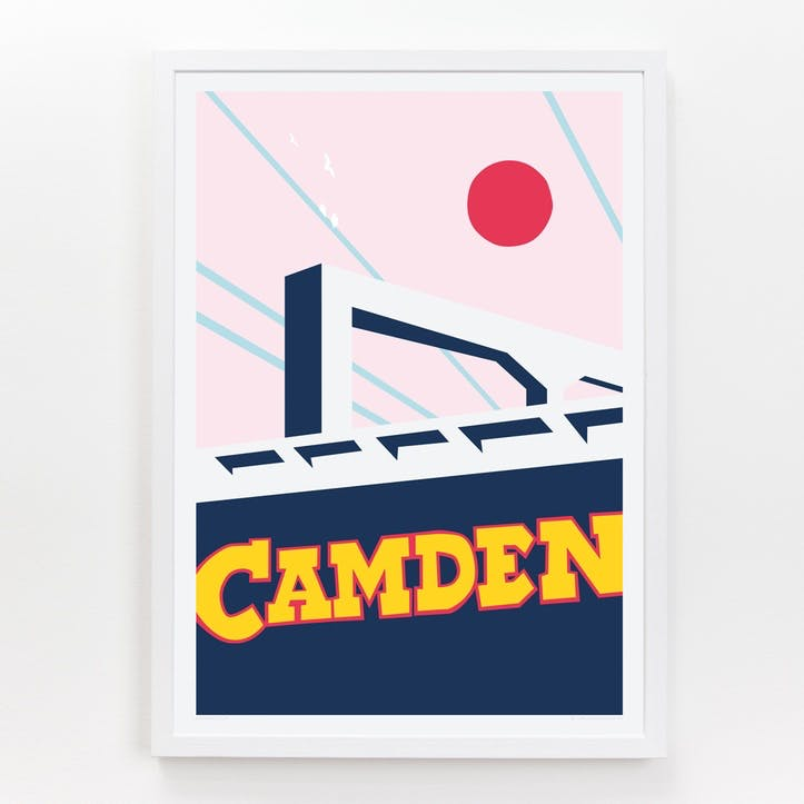 Location Camden Lock Print, A3