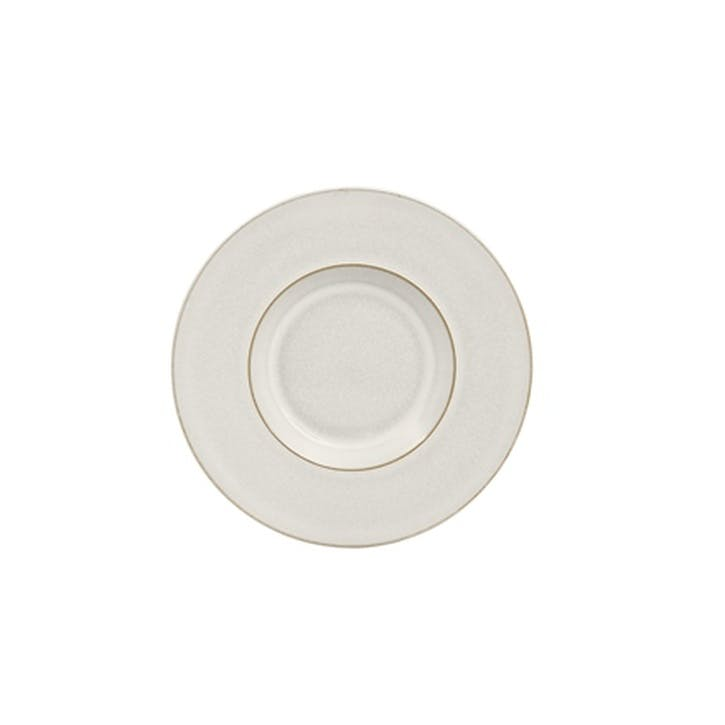 Natural Canvas Tea/ Coffee Saucer, 16.5cm, Cream