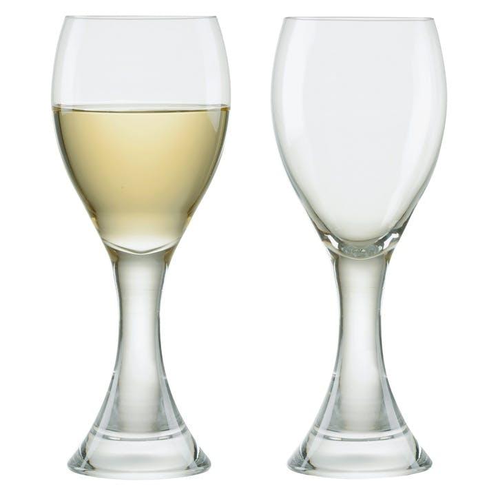 Manhattan Set of 2 White Wine Glasses