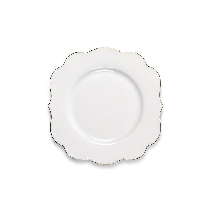 PiP Royal White Cake Plate
