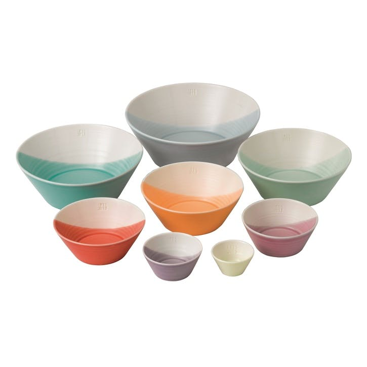 1815 Brights Nesting Bowls, Set of 8