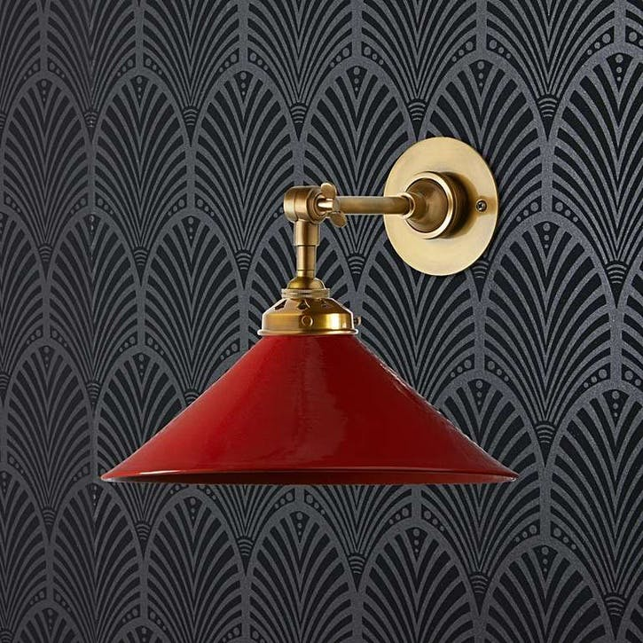 Hania Wall Light, Cherry Glaze