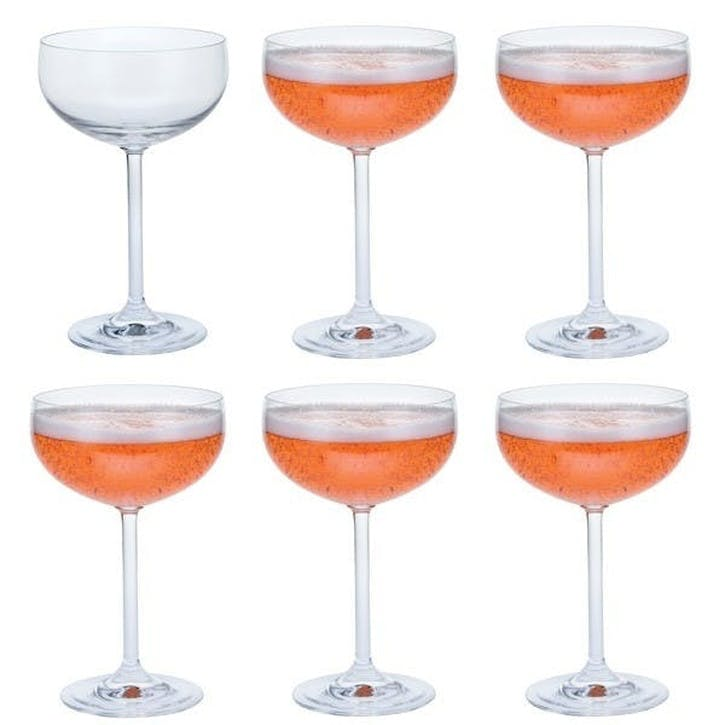 Champagne Saucer, Set of 6