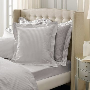 1200TC Fitted Sheet, King, Silver