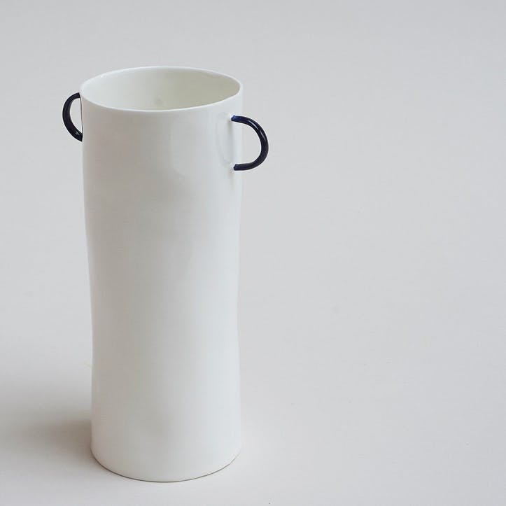Cobalt Vase with Handles