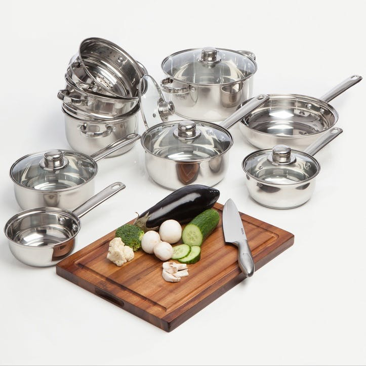 Stainless Steel Cookware, 9 Piece Set