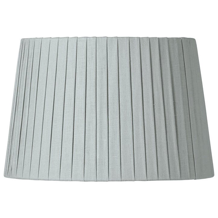 Pleated Linen Lampshade, 30cm, Grey