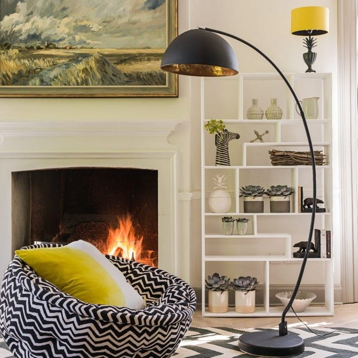 Arc Black Metal Floor Lamp
