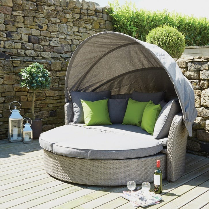 Cayman Day Bed, Stone Grey