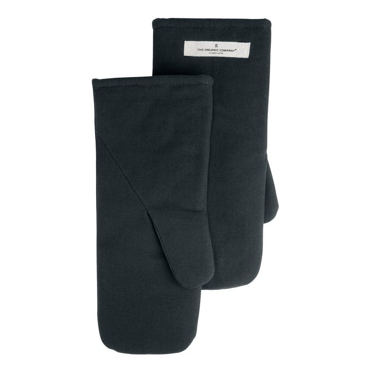 Canvas Oven Mitts, Large, Dark Grey