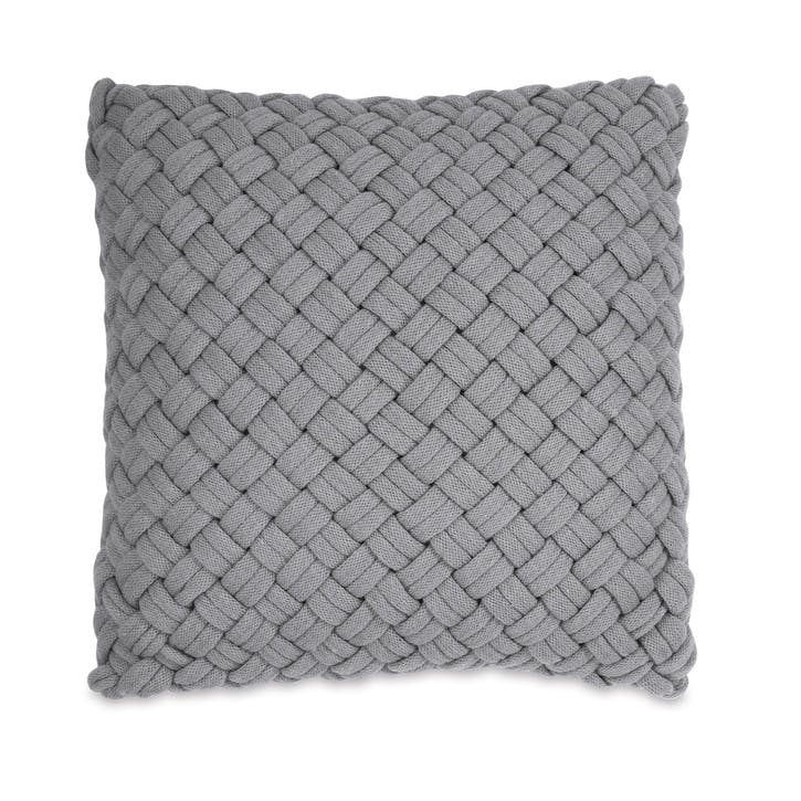Chunky Knit Cushion, Grey