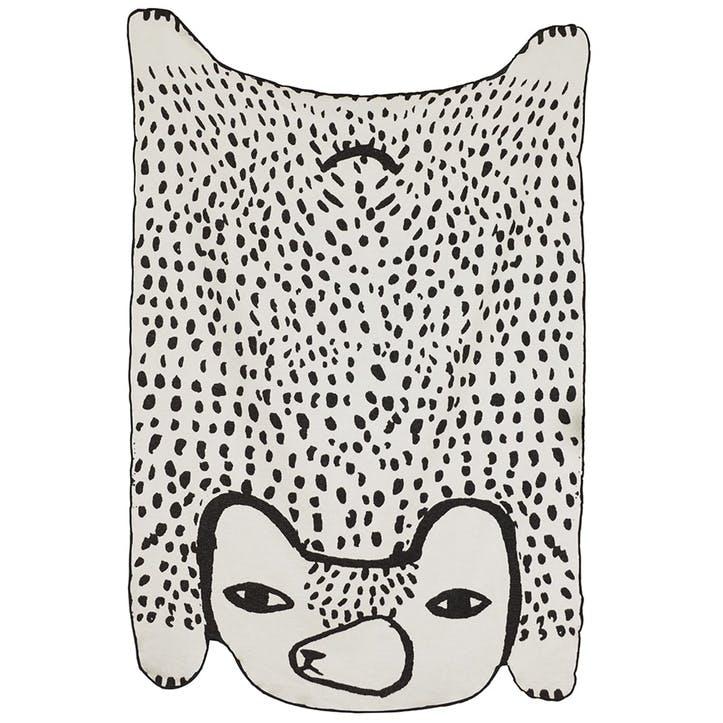 Bear Throw 133 x 198cm, Black & White