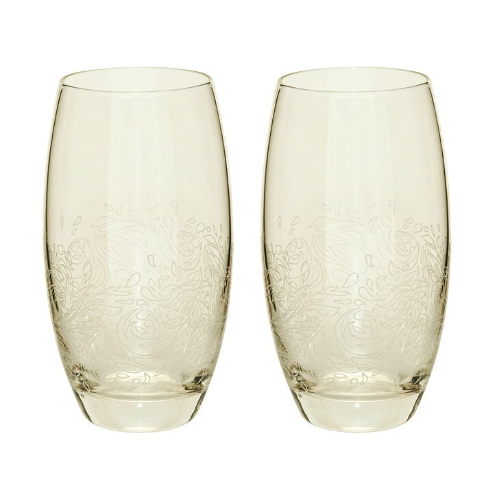 Lucille Gold Large Tumbler (Pack Of 2)