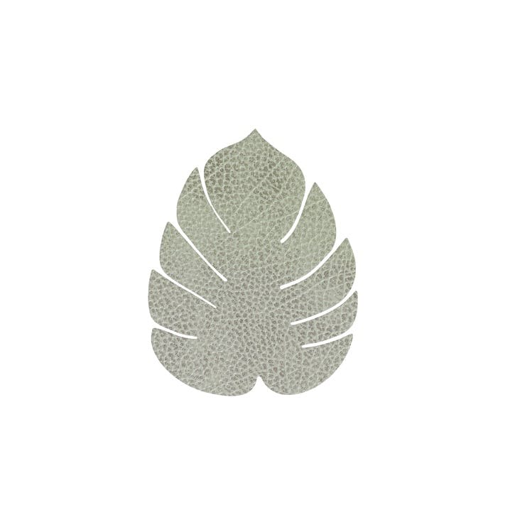 Monstera Coaster, Hippo Olive Green, Set of 8