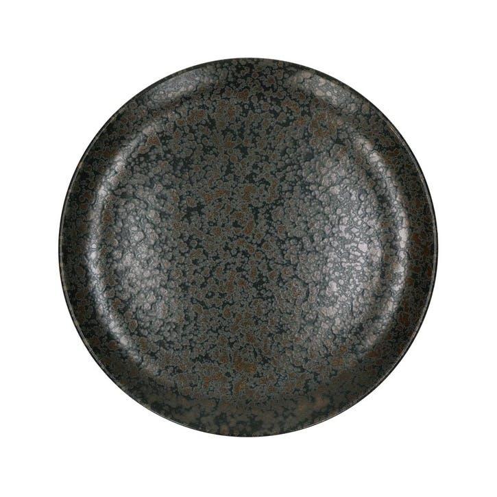 Somero Dessert Plate, Set of 4, Black