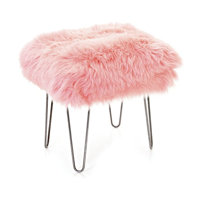 Baa Stool Ffion, 50cm x 40cm x 45cm, Baby Pink